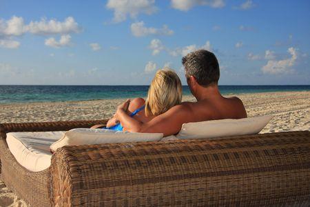 Honeymoon in paradise. Banco de Imagens - 3194359