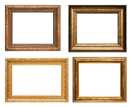 picture frame on wall: Antique picture frames. High resolution.
