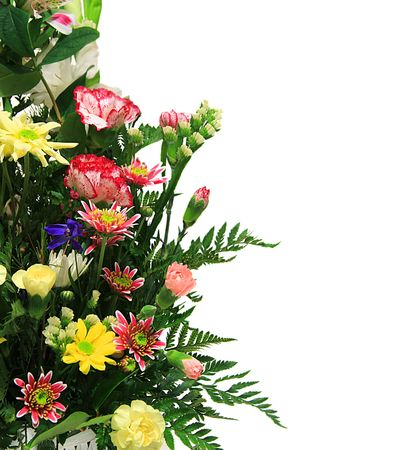 Floral arrangement with copyspace for text.  Stock Photo