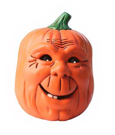 Happy smiling friendly pumpkin photo
