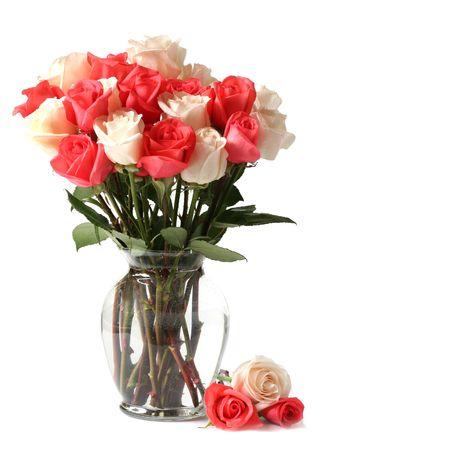 dozen: Sweetheart roses Stock Photo
