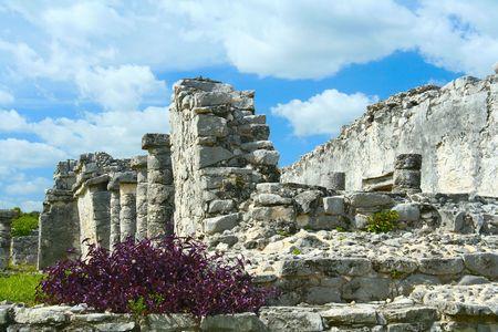 Mayan ruins, Tulum, Mexico Stock Photo