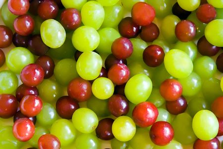 concord grape: Red and green grapes Stock Photo