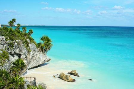 Beautiful beach, Mexico Stock Photo - 3235097