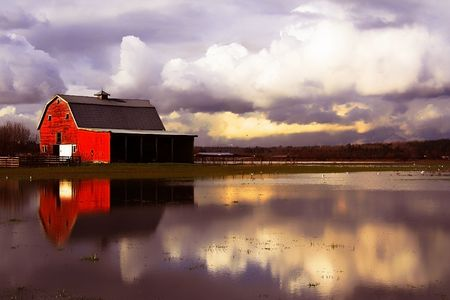 Flooded barn Stock Photo - 3235045