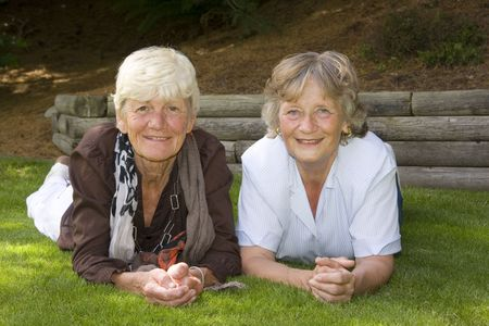 best friends: Two ladies in their sixties, best friends for 55 years.