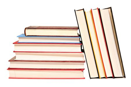 hard cover: Isolated hard cover books.