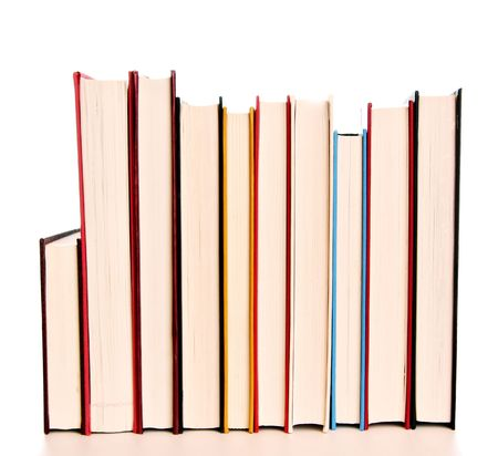 Isolated hard cover books