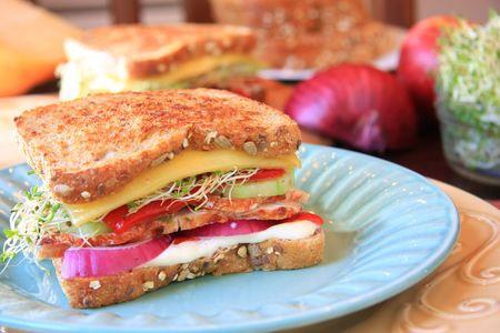 Southwestern turkey sandwich.  photo