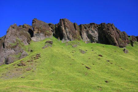 island�s: Monta�a paisaje island�s.  Foto de archivo