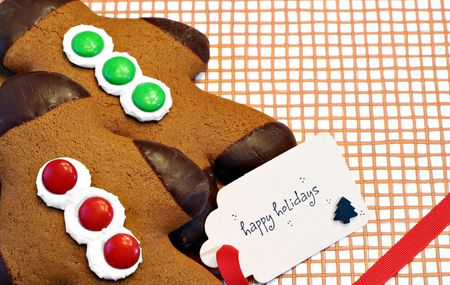 gingerbread: Gingerbread men for Christmas Stock Photo