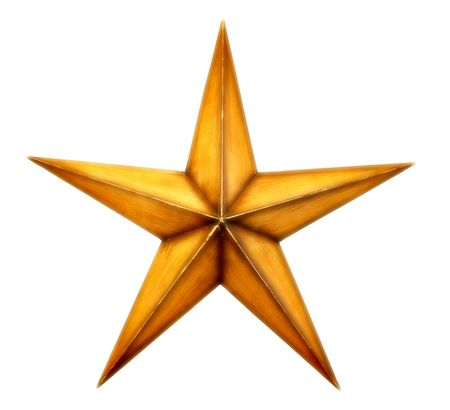 Old wooden star photo
