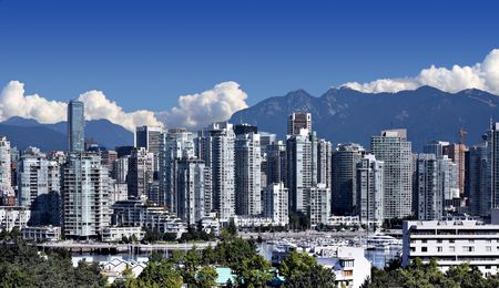 district columbia: City of Vancouver, home of the 2010 Winter Olympics. Stock Photo