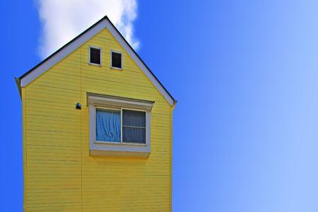 yellow house: Yellow house Stock Photo
