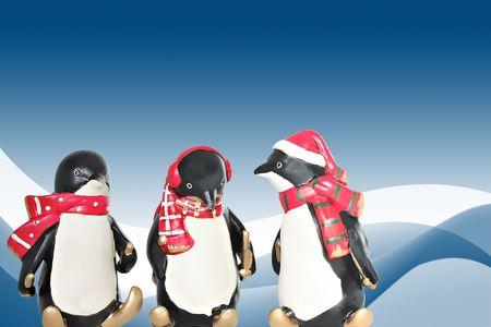 pinguinos navidenos: Ping�inos de Navidad