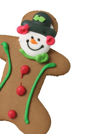 gingerbreadman: Gingerbread man isolated on white Stock Photo