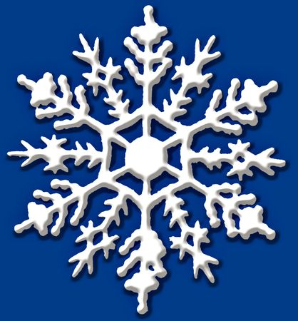 Beautifully detailed large detailed snow flake.