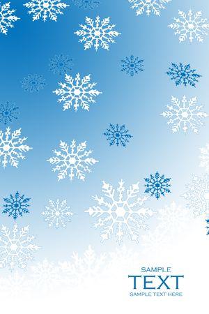 Snowflake background.