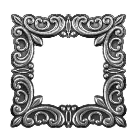 silver frame: Antique silver picture frame.