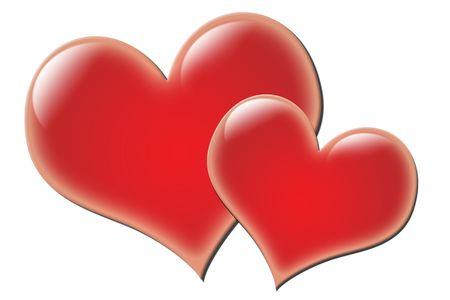 High resolution glowing valentine's hearts. 스톡 콘텐츠