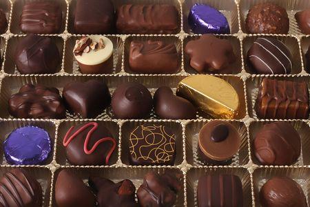 Assorted chocolate truffles. Stock Photo - 4091693
