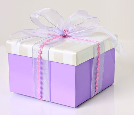 beautifully wrapped: Beautifully wrapped gift.  Stock Photo