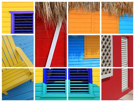 paints: Caribbean collage.