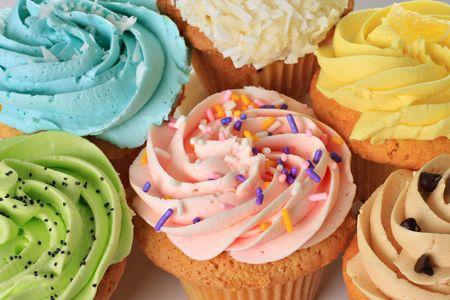 birthday cupcakes: Birthday cupcakes.
