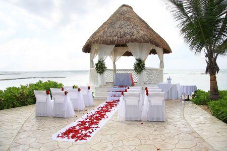 Tropische bruiloft locatie.