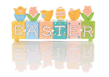 Easter decoration, studio isolated on white.  Stock Photo - 4358138