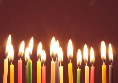 Verjaardag kaarsen Stockfoto