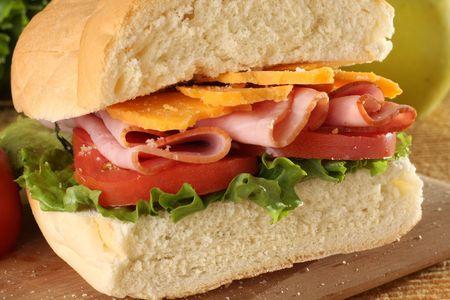 Deli ham sandwich. photo