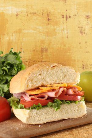 Deli ham sandwich photo