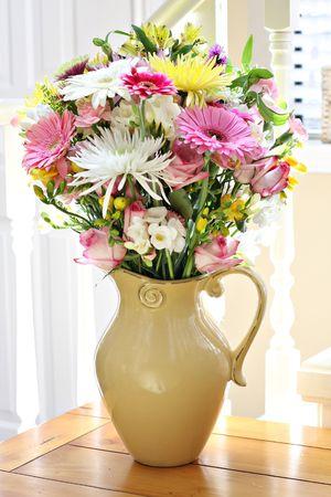 Interior spring floral bouquet.