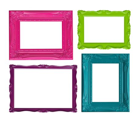 Four contemporary picture frames in high resolution vibrant colors. Stock Photo - 4858341