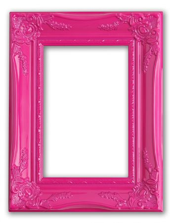 Pretty pink picture frame.  photo