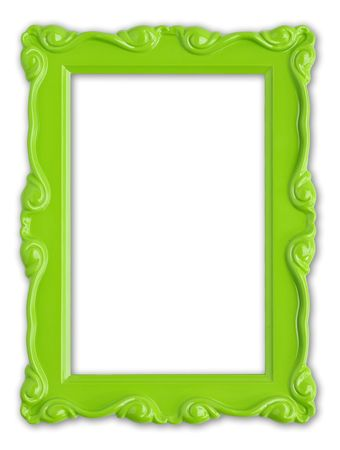 Pretty green picture frame.  Stock Photo - 4870550