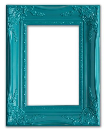 Contemporary blue picture frame.  Stock Photo - 4870552