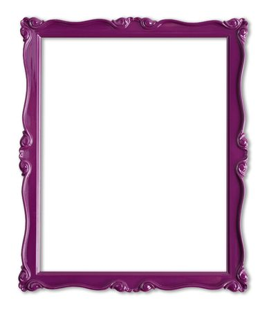 Pretty purple picture frame. Stock Photo - 4870551