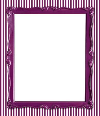 hintergr�nde: Pretty lila Bilderrahmen auf einem gestreiften Hintergrund Hintergrund. Lizenzfreie Bilder