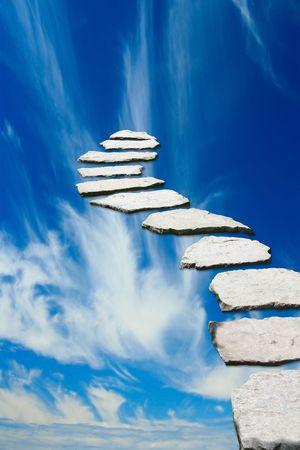 Stone Weg zum Himmel Standard-Bild
