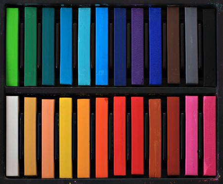 Soft studio pastels for artists.  Stock Photo