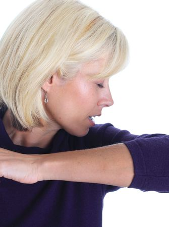 the sleeve: Sneeze into your sleeve and stop the spread of germs.