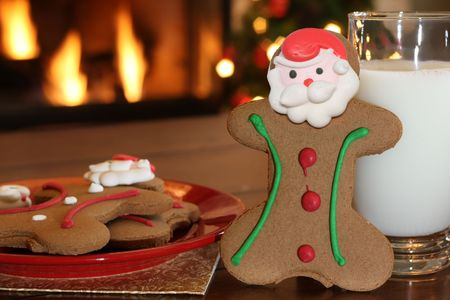 gingerbreadman: Milk and cookies for Santa
