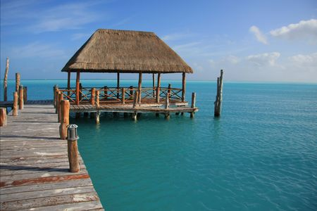 Beautiful dock in Caribbean tropical waters. Also available in vertical. Stock Photo - 6309818