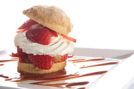 Gourmet strawberry short cake.