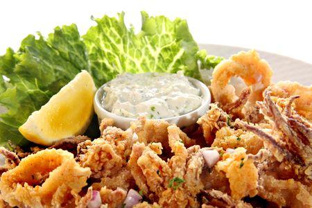 Deep fried Calamari platter.