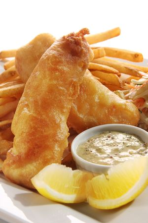 fish chips: Fish and chips. Foto de archivo