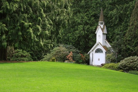 Little chapel in the park.  Banco de Imagens
