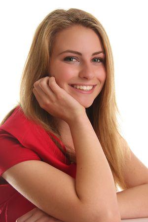 Portrait of a beautiful teenage girl.  Stock Photo - 7079513